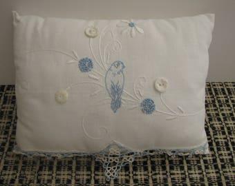 Vintage Linen Handmade Toothfairy Pillow or Ring Bearer's Pillow