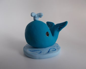 whale cake topper - blue whale