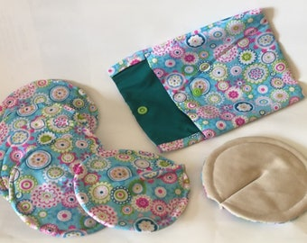 Eco-friendly nursing pads washable and trendy in blue