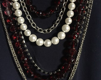 White House Black Market Multi Strand Statement Necklace