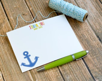Personalized Preppy Anchor Thank You Note / Personalized Stationery / Anchor Thank You Note Cards /  Personalized Anchor Notes