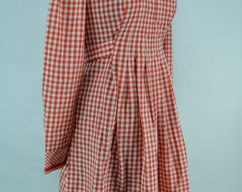 1970s Gingham Dress, 1970s Dress, 70s Dress, Vintage Dress, Dress, Gingham Dress, 1970s Gingham Dress, 1970s, 70s, Red and White Dress