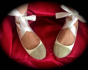 Crystalized Ballerina Flats