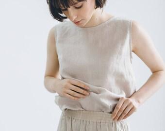 Basic linen top / Linen tank top / Linen blouse / Linen shirt / #18 LUNA