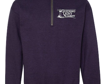Guiding Light Academy - Quarter Zip w/ left chest impression