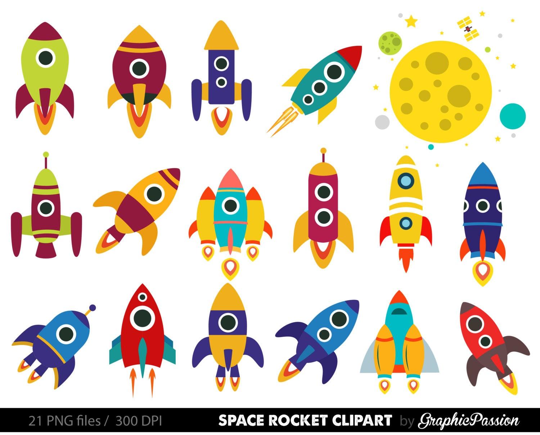 retro rockets clip art clipart spaceship rocketship space rh etsy com rockettes clip art rocket clip art black and white