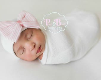 newborn hat, newborn girl, newborn bow, newborn hat with bow, newborn hospital hat, newborn baby hat
