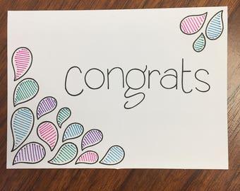 congratulations card - customizable