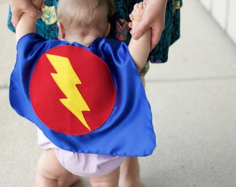 ADD ON - Add one initial or add a name to lightning bolt baby cape - Must be ordered in addition to a cape listing