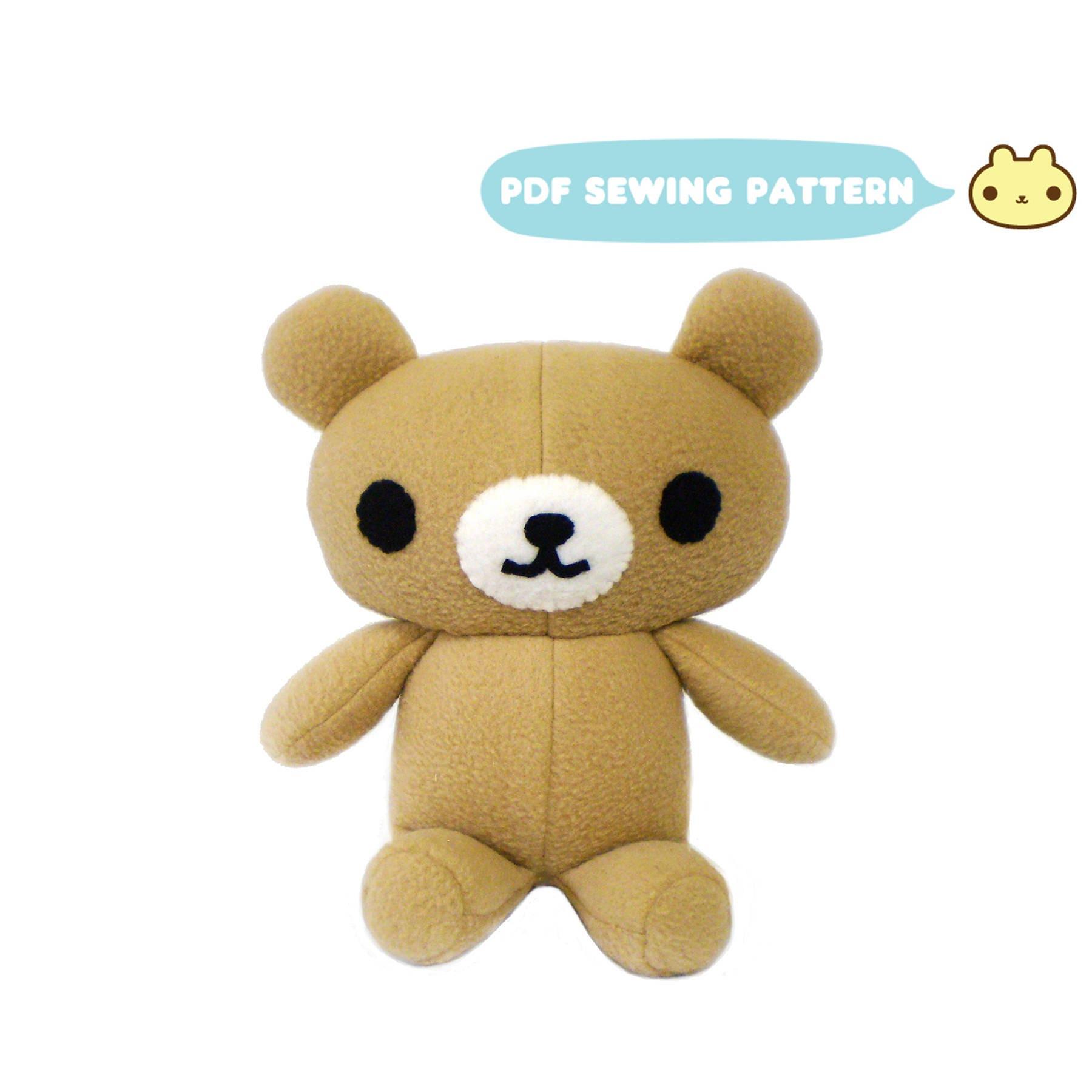 Bear Plush Sewing Pattern Bear Sewing Pattern DIY Bear