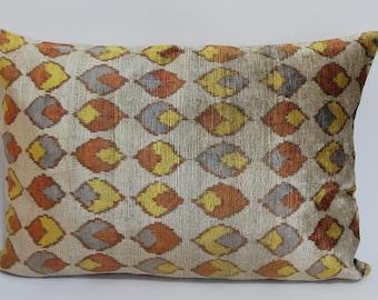 Ikat Pillow Case -  16'' x 23'' Decorative Pillows For Couch Sofa Pillows Lumbar Pillow Decorative Cushion Modern Pillow Cover