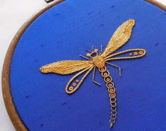 Goldwork embroidery kit - The Damsel Fly