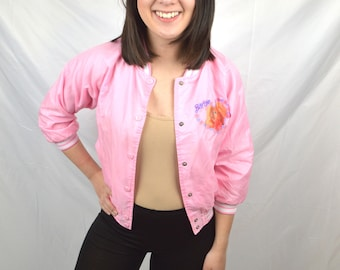 Vintage 90s Barbie Pink Girl's Jacket