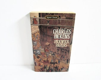 Vintage Book Pickwick Papers Charles Dickens Signet Classic Paperback Book New American Library Steven Marcus British Author Posthumous Club