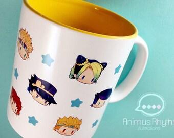 JOJO's Bizarre adventure 11oz Mug Cup Anime Jonathan Joseph Jotaro josuke