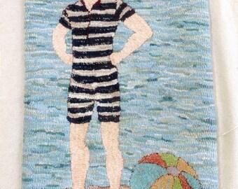 Vintage Bathing Beau Rug Hooking Pattern