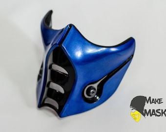 Mask Sub-zero Mortal kombat for Cosplay   Color LEDs   Different sizes   Different color