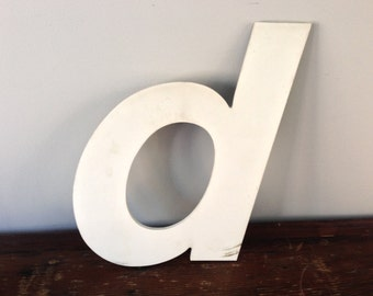 D - Reclaimed metal letter