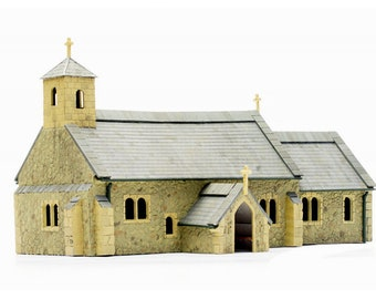 Village Church, Dapol PLASTIC MODEL KIT C029 Train Accessory, Model Rail Building, Brand New
