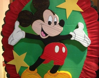 Mickey Mouse Birthday piñata.  Party Decorations and Supplies