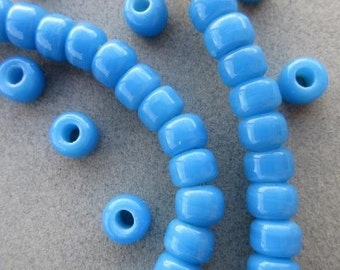 Light Blue Padre Beads (8x6mm) [65975]