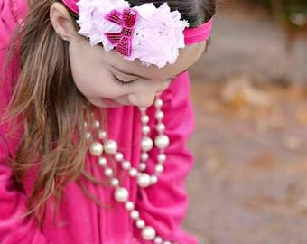 Fancy Shabby Headband for your pink lover!!