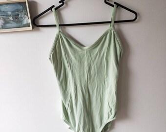Mirella Pastel Mint Green Womens Loetard in Large