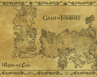 Game of Thrones Antique Map (size 610x910mm)