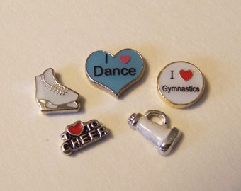 Misc. Floating Charms.......Sports and Activities, CHOOSE 1