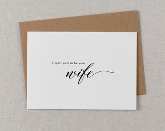 I Can't Wait To Be Your Wife, Wedding Card to Groom, I Can't Wait To Marry You, Wedding Day Card, Wedding Cards, To My Future Husband, K2