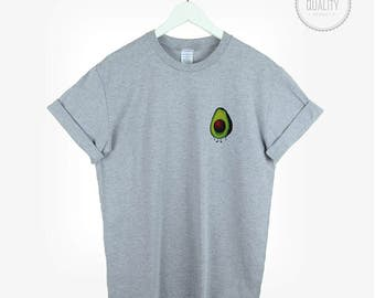 AVOCADO pocket t-shirt shirt tee unisex womens mens cute kale vegan floral cactus tumblr pinterest instagram graphic gift *brand new