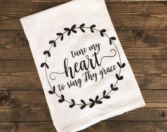 Tune My Heart Tea Towel