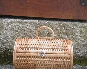 Wicker Purse Handbag Portuguese Willow