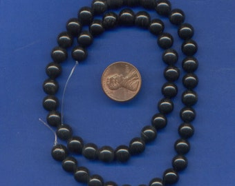 "16"" Strand of 8mm Blackstone Beads"