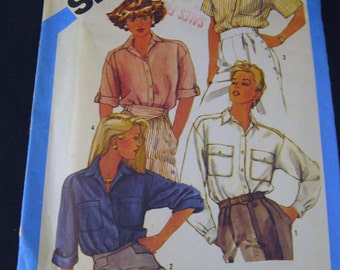 Simplicity 6462 Misses  Boxy Shirt Size 10,12,14 Uncut  Loose-Fitting
