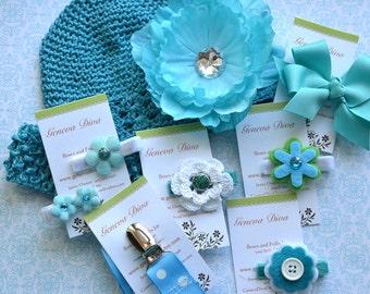 Newborn Gift Set in Turquoise