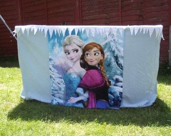 FROZEN disney princess themed playhouse tablecloth play tent fits IKEA rectangular table