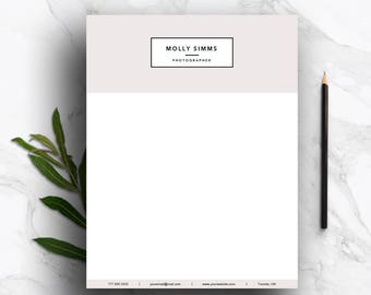 Custom letterhead etsy letterhead template for word pages customizable stationary personal letterhead business letterhead spiritdancerdesigns Image collections
