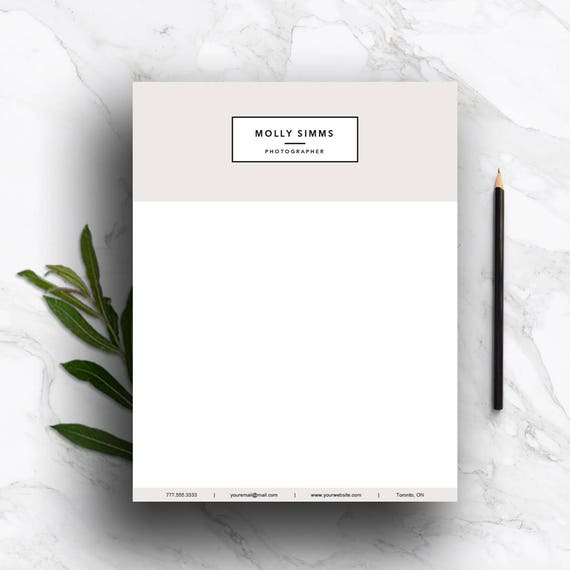 Letterhead template for word pages customizable stationary te gusta este artculo spiritdancerdesigns Gallery