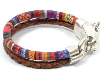 horse bracelet, horse jewelry, western jewelry, equestrian bracelet, ethnic woven bracelet, horse lover bracelet, men leather bracelet