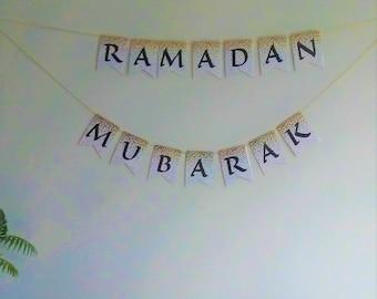 Ramadan Decorations, Ramadan Mubarak Decor, Elegant Ramadan Banner