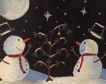 Snowy Christmas - Art Print