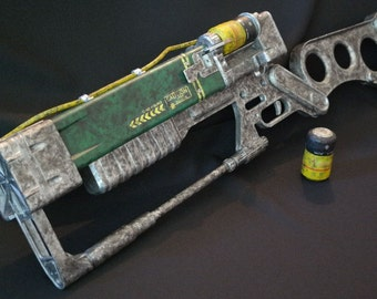 Fallout laser rifle replica pattern for pepakura or 3-D print