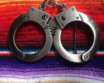 Hand Cuffs Vintage Belt Buckle