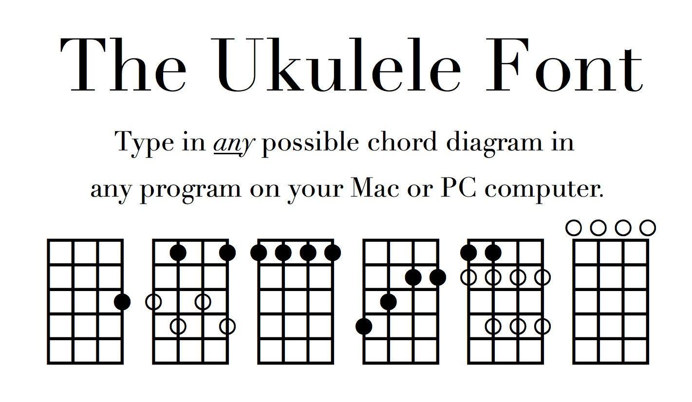 Uke fingering and chord diagram font notate ukulele diagrams zoom hexwebz Gallery