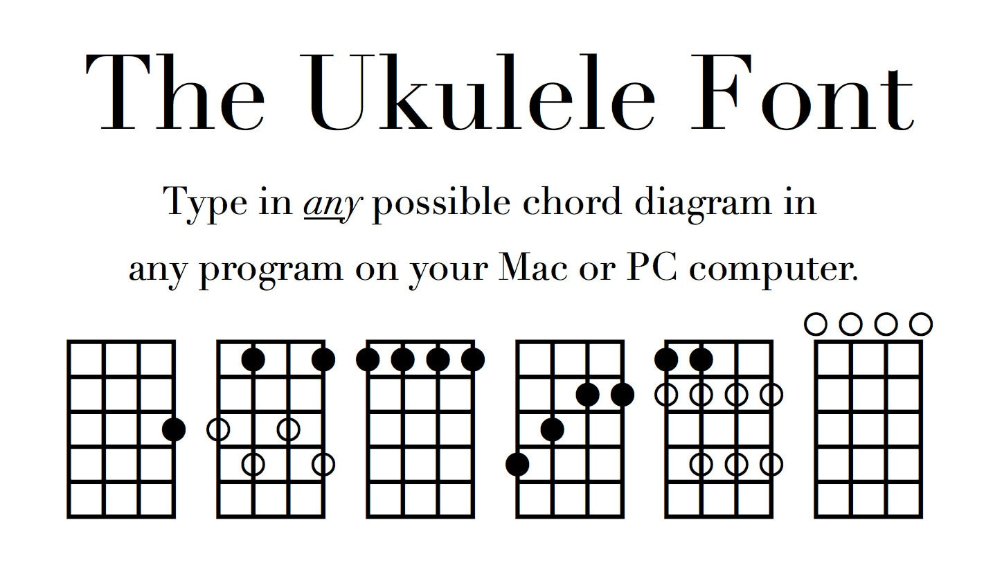 Uke fingering and chord diagram font notate ukulele diagrams zoom pooptronica