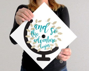 Graduation Cap Decal | DOWNLOAD ONLY | Adventure Is Out There | Adventure | Graduation Cap