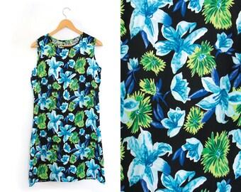 Vintage Floral Dress. Sundress. Floral Print. Summer. Midi Dress.