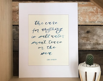 Watercolor Brush Calligraphy Quote