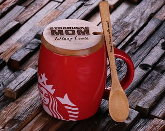 Red Personalized Starbucks Mug Coffee Cup 14 oz.